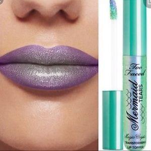 New Too Faced Mermaid Tears crystal lip topper